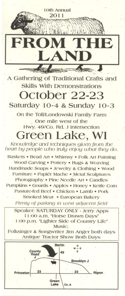10th Annual From The Land Festival Features A Variety of New Artists  sc 1 st  From the Land Festival in Green Lake Wisconsin & Gift Ideas | From the Land Festival in Green Lake Wisconsin